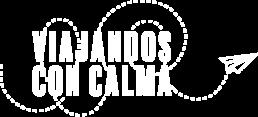 White Logo ViajanDos con calma